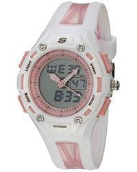 Skechers - Quartz Plastic And Polyurethane Casual Watch, Color:white (model: Sr2053) - Lyst
