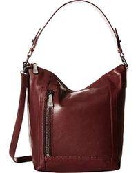 42b2587e0394 Lyst - MICHAEL Michael Kors Large Lena Leather Hobo Bag in Purple
