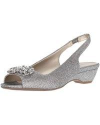 285d3b3ab09 Anne Klein - Helissa Low Heel Evening Sandal Heeled - Lyst