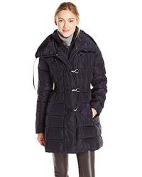 Jessica Simpson - Mid-length Down Coat With Toggle Closures - Lyst