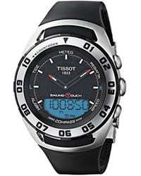 Tissot - 'sailing Touch' Swiss Quartz Stainless Steel And Rubber Sport Watch, Color:black (model: T0564202705101) - Lyst