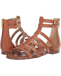 897a1cf2ba31 Lyst - Sam Edelman Berke Caged Double E Gladiator Sandals in Black