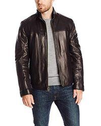 Cole Haan - Smooth Lamb Convertible Collar Jacket - Lyst