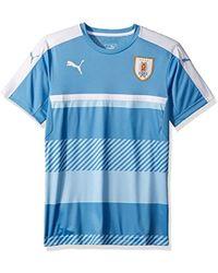 f15509d66c5 Lyst - PUMA Uruguay Training Jersey in Blue for Men