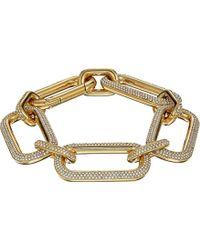 Michael Kors - S Iconic Pave Link Statement Bracelet - Lyst