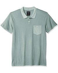 Rvca Men/'S Desmond Stripe Short Sleeve Polo Shirt