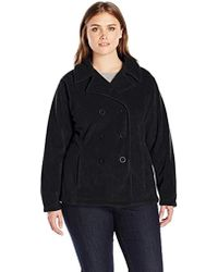 4cad49b3f39 Kenneth Cole Reaction Plus Size Double-Breasted Wool-Blend Pea Coat ...