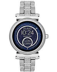 Michael Kors - Access Sofie Silvertone Touchscreen Smart Watch - Lyst