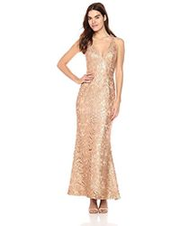 Dress the Population - Karen Plunging Lace Gown - Lyst