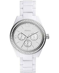 Fossil - 'caleigh' Quartz Resin Watch, Color:white (model: Bq3343) - Lyst