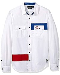c7ec3a43ae45a Lyst - Tommy Hilfiger Slim Fit Heritage Oxford Solid Long Sleeve ...