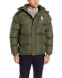 Classic Bubble Jacket With Polar Fleece Lining And Large Logo - c842470bc