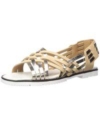 3381393d0f7 Lyst - Calvin Klein Marimba Huarache Sandal Multicolor in Metallic