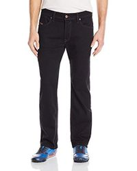 63a18588 DIESEL Waykee Solid Button Fly Jeans in Black for Men - Lyst