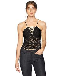 Guess - Sleeveless Graham Lace Up Camisole - Lyst
