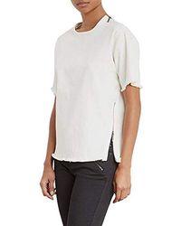 Kenneth Cole - Denim Moto T-shirt - Lyst