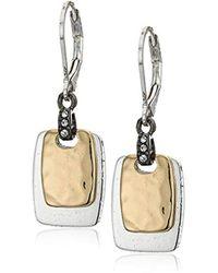Nine West - Tritone Drop Earrings, Tritone - Lyst
