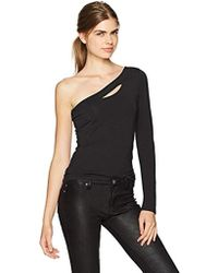 Guess - Long Sleeve Shelbi One Shoulder Top - Lyst