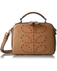 Orla Kiely - Laced Stem Leather Mini Bay Bag - Lyst