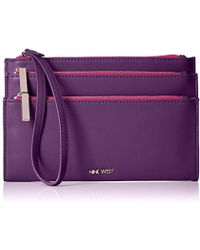 Nine West - Table Treasure Tri Zip Wristlet - Lyst