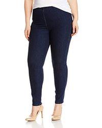 Joan Vass Plus Size Stretch Ankle Denim Pant