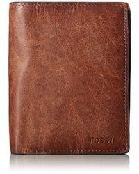 Fossil - Leather Rfid Blocking International Combination Wallet - Lyst