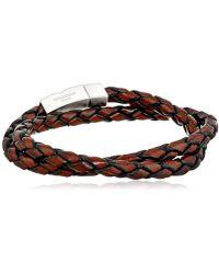 Tateossian - Scoubidou Leather Double-wrap Bracelet - Lyst