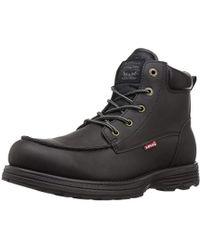 Levi's - Harvey Oily Fashion Boot, Black Mono Chrome, 9 M Us - Lyst
