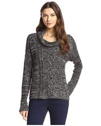 James & Erin - Marled Cable Cowl Neck Sweater - Lyst