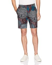 Lyst - Perry Ellis Stretch Sateen Geo Print Shorts in Gray for Men ... e4c5ce7e4