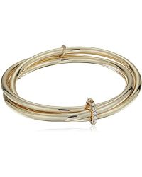Kenneth Cole - Kenneth Cole New Trinity Rings Bangle Bracelet - Lyst