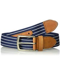 Nautica Casual Plaque Belt - Blue