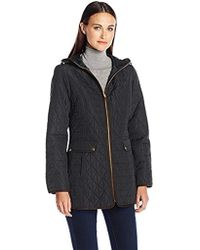 Jones New York - Split Diamond Quilt Jacket - Lyst