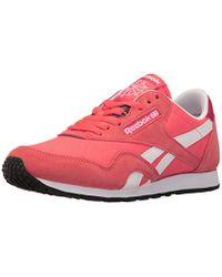 506309810f7 Lyst - Reebok Classic Slim Nylon Running Sneaker in Blue