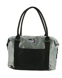 Lyst - Puma Women s Remix Tote Bag in Black f2cd2db8b6417