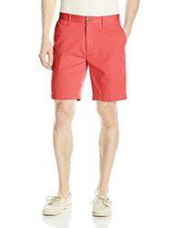 Nautica - Cotton Twill Flat Front Chino Deck Short - Lyst