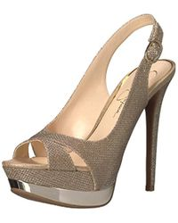3be72b004c3ade Lyst - Circus by Sam Edelman Loew Metallic Woven Platform Sandal in ...