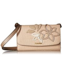 Calvin Klein - Logan Exotic Saffiano Applique Leather Crossbody - Lyst