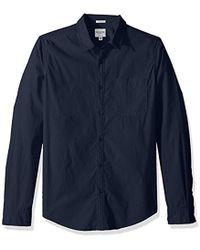 Guess - Long Sleeve Paul Poplin 1 Pocket Shirt - Lyst