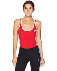 adidas Originals - 3-stripes Bodysuit - Lyst