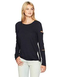 n:PHILANTHROPY - Gloria Long Sleeve Striped Tee With Cut Outs, - Lyst