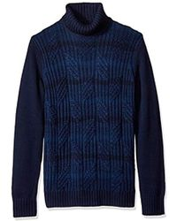 Calvin Klein - Ombre Stripe Cable Knit Turtleneck Sweater - Lyst