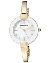 Anne Klein - Ak/3264gbst Swarovski Crystal Accented Gold-tone Bangle Watch And Bracelet Set - Lyst