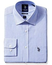 U.S. POLO ASSN. - Hairline Stripe Semi Spread Collar Dress Shirt - Lyst