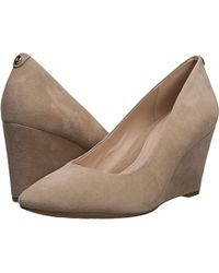 09d12e50c3a Lyst - Taryn Rose Kathleen Leather Wedge Pump in Natural