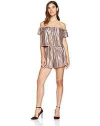 Guess - Off The Shoulder Emerson Romper - Lyst