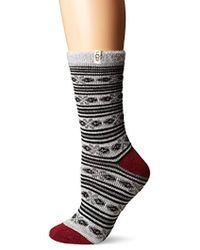 UGG - Fair Isle Fleec Lined Sock - Lyst