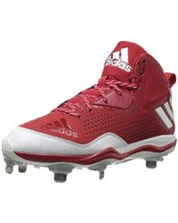 034eac6495c Lyst - adidas Originals Freak X Carbon Mid Baseball Shoe in Red for Men