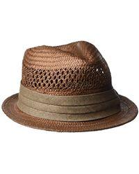 Lyst - Goorin Bros Blurr Fedora Hat in Natural for Men b82cfc05296f