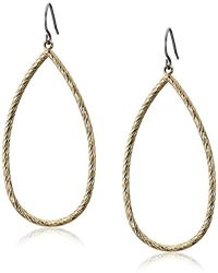 Kensie - Gold-plated Diamond Cut Tear Drop Earrings - Lyst